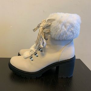 JUST LISTED! Chunky White Boots